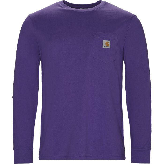 L/S Pocket - T-shirts - Regular - Lilla